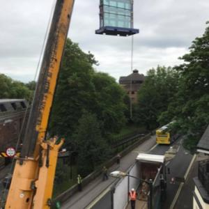 Craning a Glass Stillage